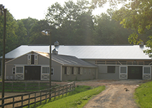 The barn and indoor arena.